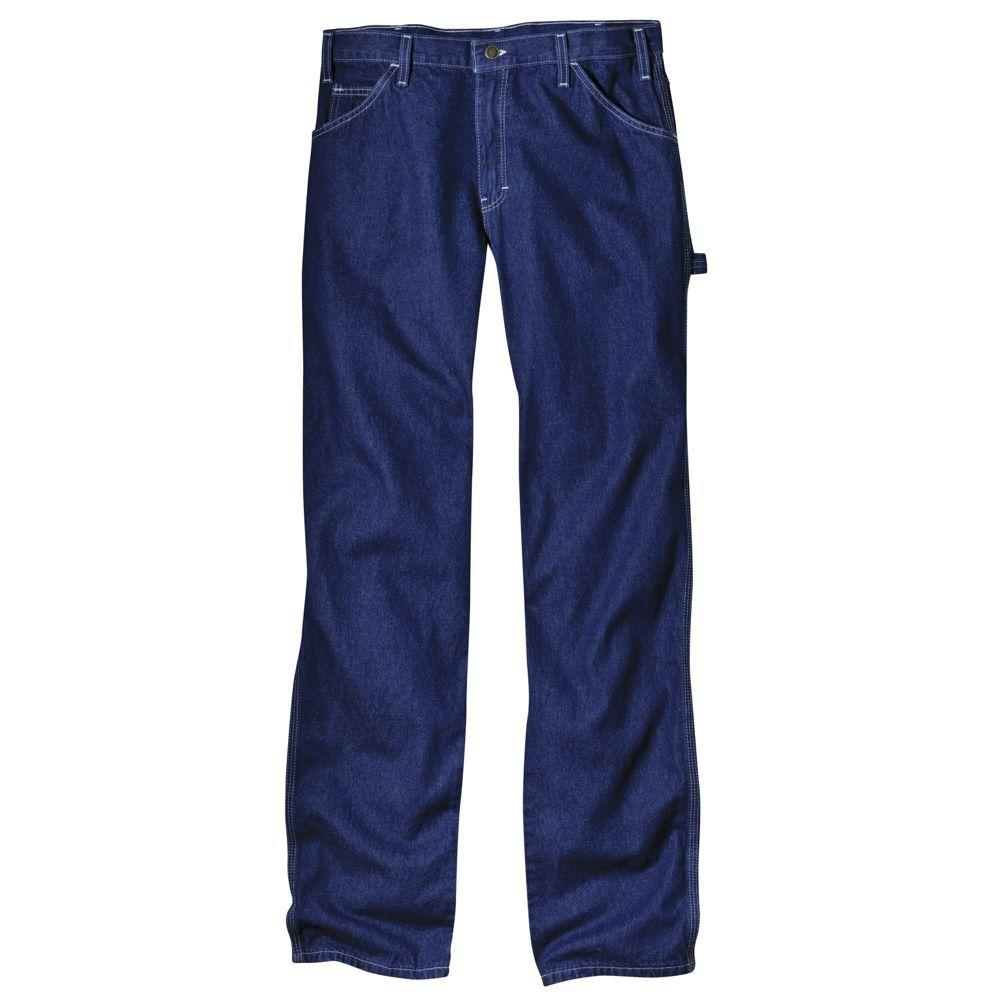 Dickies Relaxed Fit 34 in. x 32 in. Denim Utility Jean Indigo Blue-DISCONTINUED