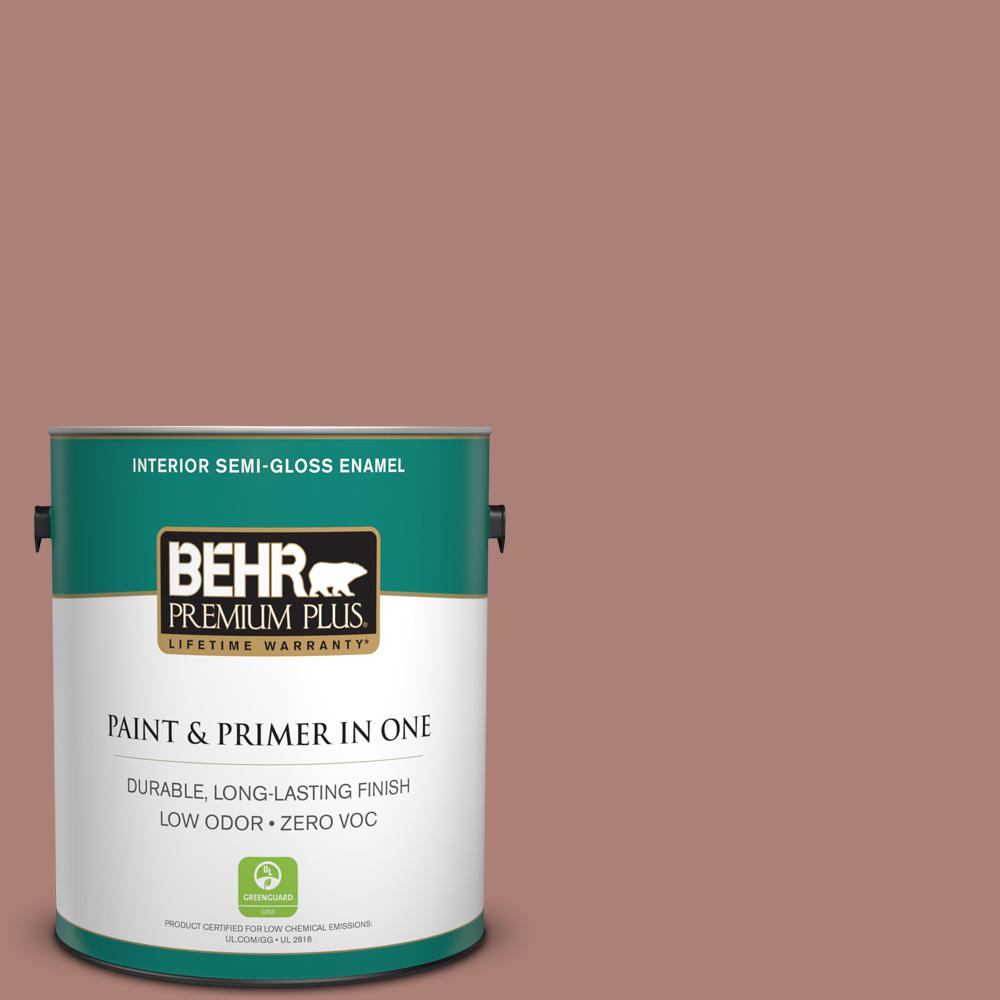 1-gal. #S170-5 Smoke Bush Rose Semi-Gloss Enamel Interior Paint