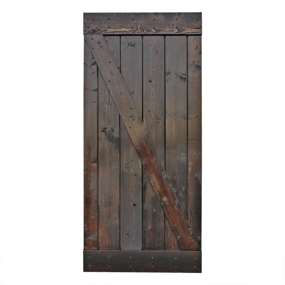 1 Panel Barn Doors Interior Closet Doors The Home Depot