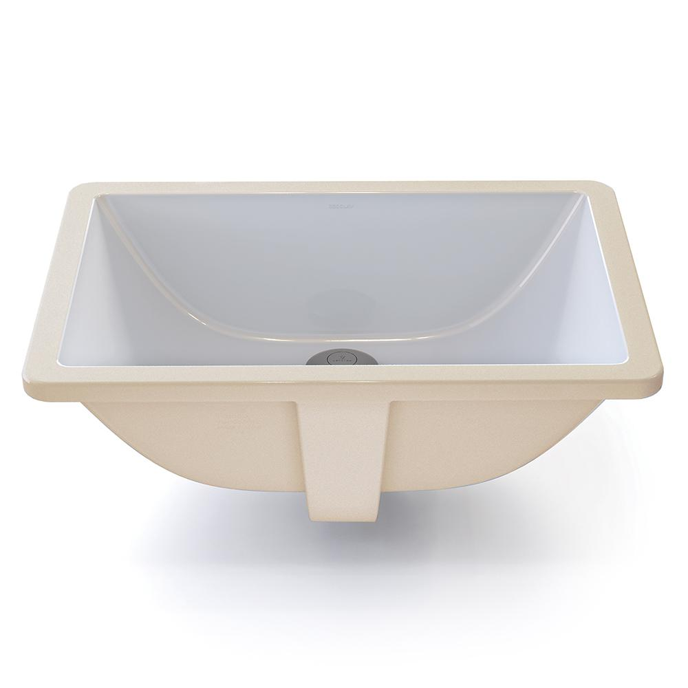Decolav Classically Redefined Rectangular Undermount Bathroom Sink In White 1402 Cwh The Home