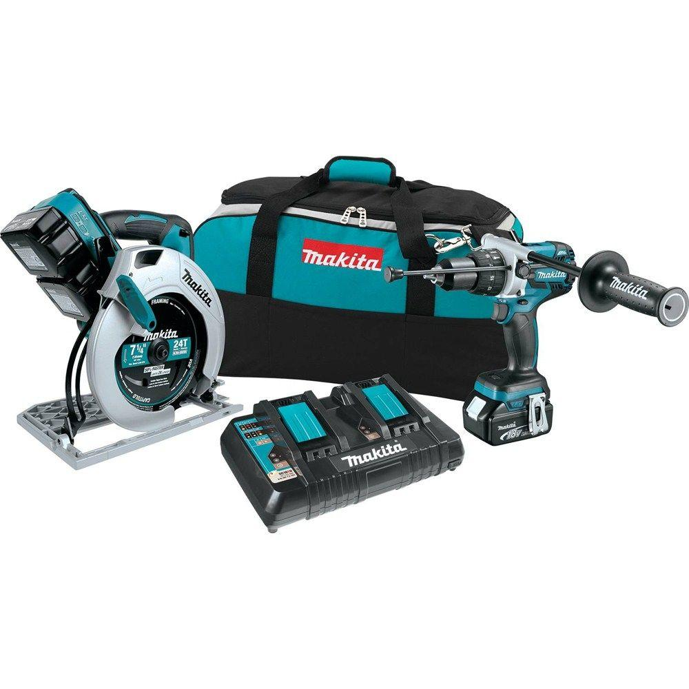 Makita 18 Volt Lxt Lithium Ion Cordless Combo Kit 2 Piece Xt259pm The Home Depot
