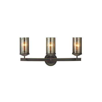Sfera 3-Light Autumn Bronze Bath Light with LED Bulbs