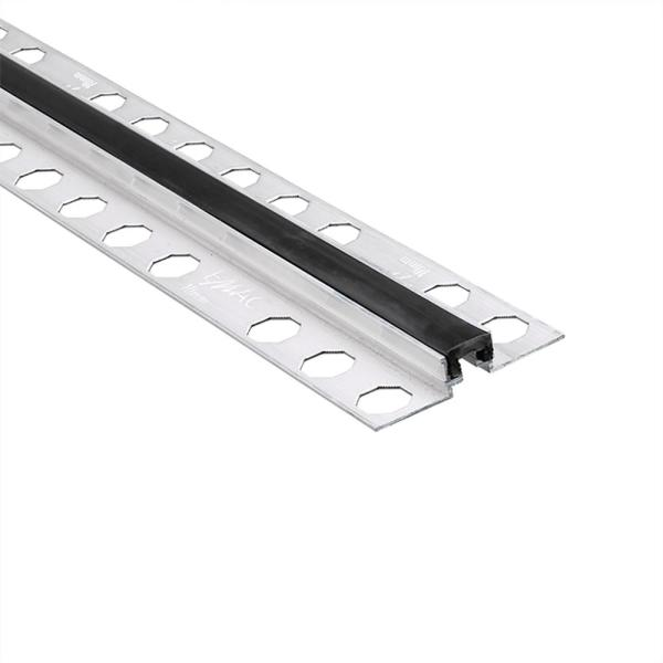 Novojunta Metaflex Black 1/2 in. x 98-1/2 in. Aluminum-Silicone Tile Edging Trim