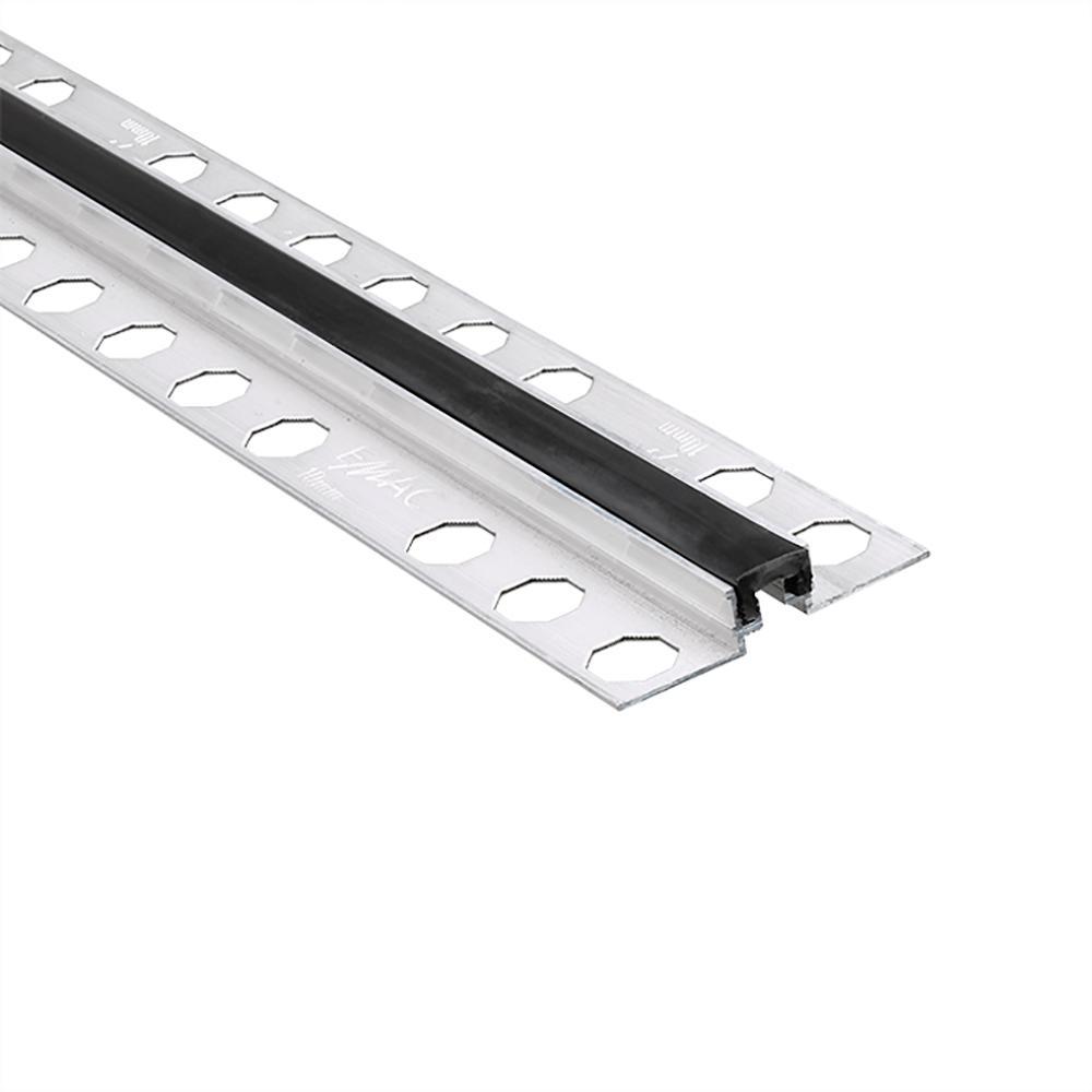 Novojunta Metaflex Black 1/2 in. x 98-1/2 in. Aluminum-Silicone Tile Edging