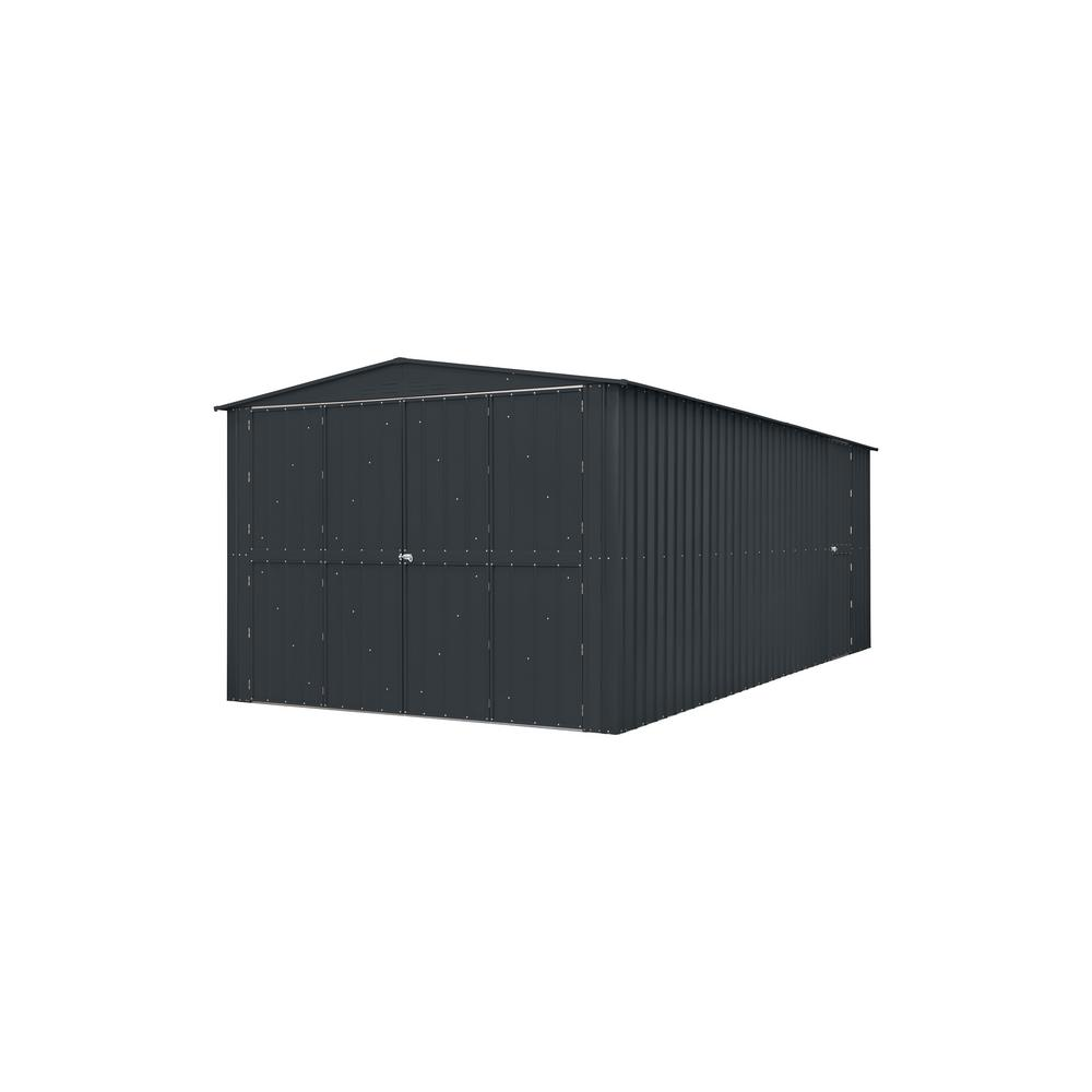 Garage 10 ft. x 17 ft. Anthracite Gray Metal Shed
