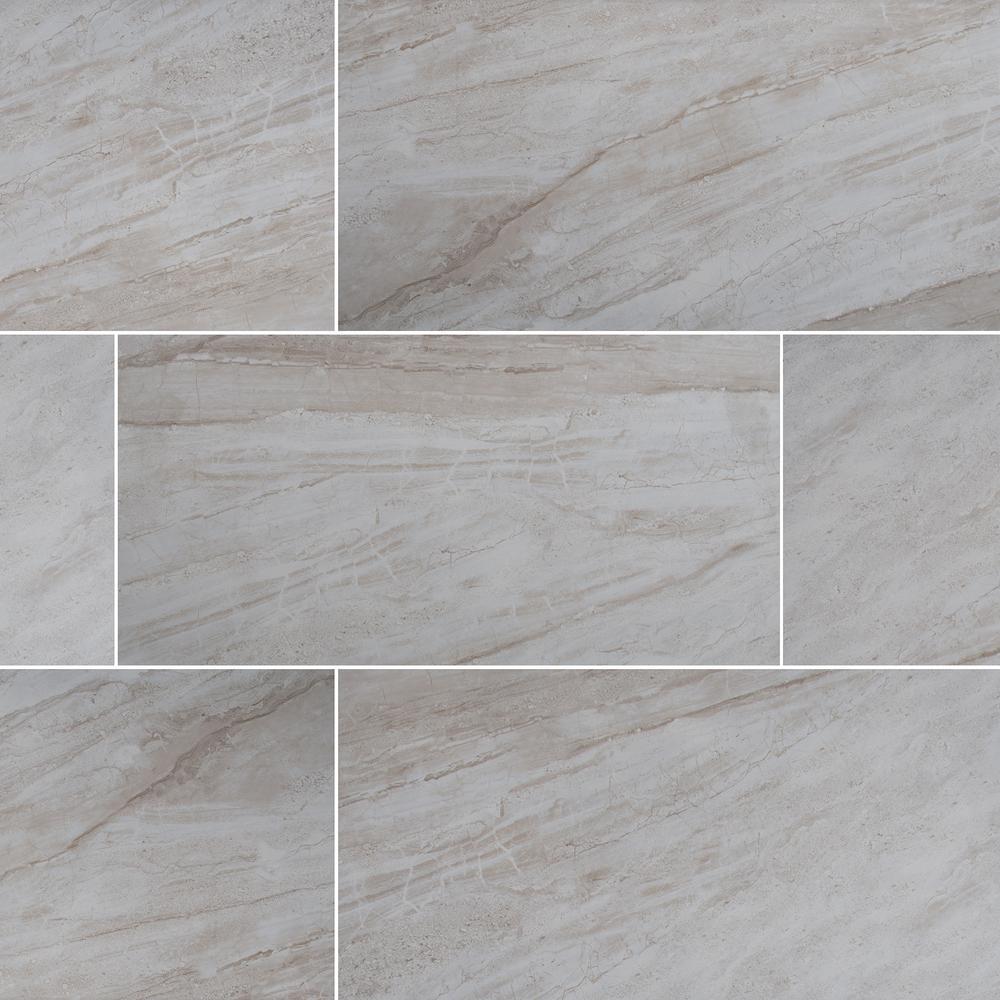 Vigo Gris 12 in. x 24 in. Matte Ceramic Floor and Wall Tile (16 sq. ft./case)