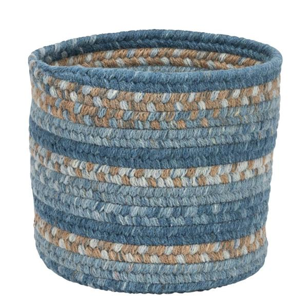 Colonial Mills Acre Small Space Wool Basket Monaco Blue 10 in.