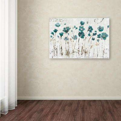 """22 in. x 32 in. """"Abstract Balance VI Blue"""" by Lisa Audit Printed Canvas Wall Art"""
