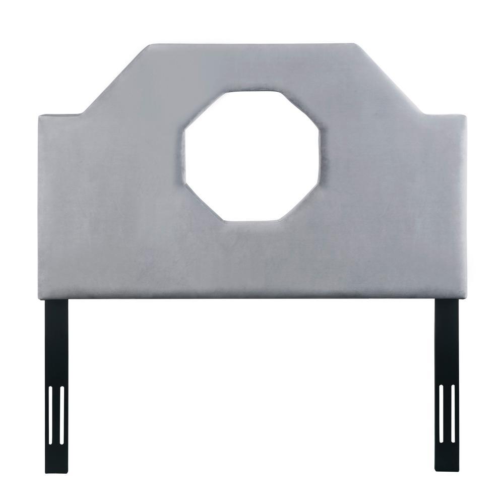 Noctis Grey Velvet Twin Headboard