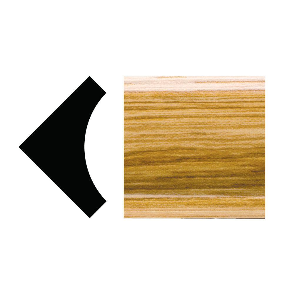 Royal Mouldings 5093 - 5/16 in. x 31/32 in. x 96 in. PVC Composite Imperial Oak Inside Corner Cove Moulding