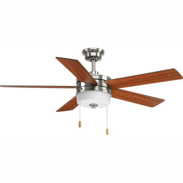 Verada 54 in. LED Indoor Brushed Nickel Ceiling Fan with Light Kit
