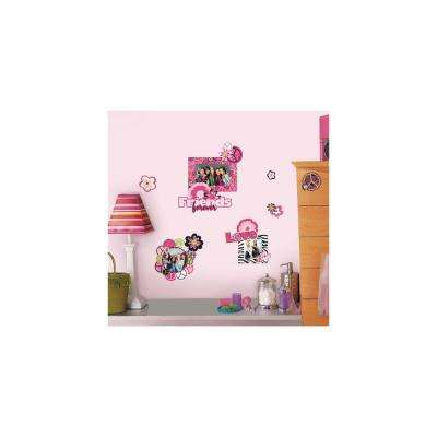 5 in. x 11.5 in. Peace Sign Frames Peel and Stick Wall Decals ...