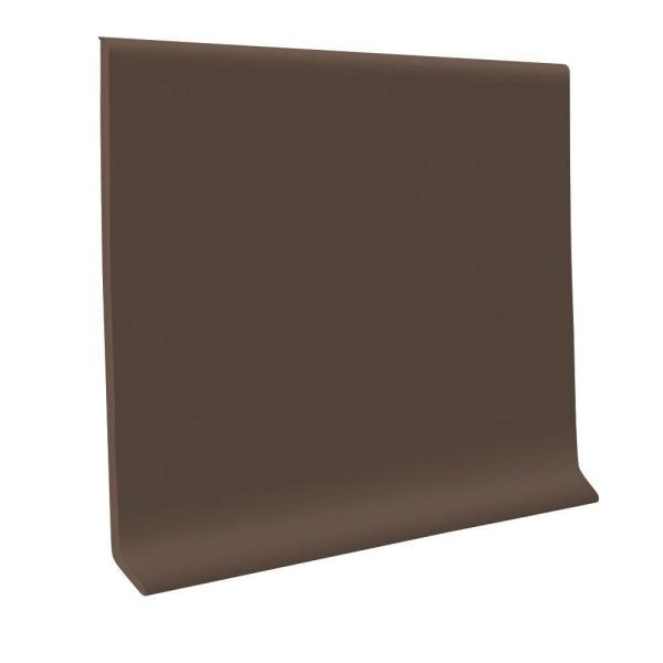 Pinnacle Burnt Umber 6 in. x 120 ft. x 1/8 in. Rubber Wall Cove Base Coil