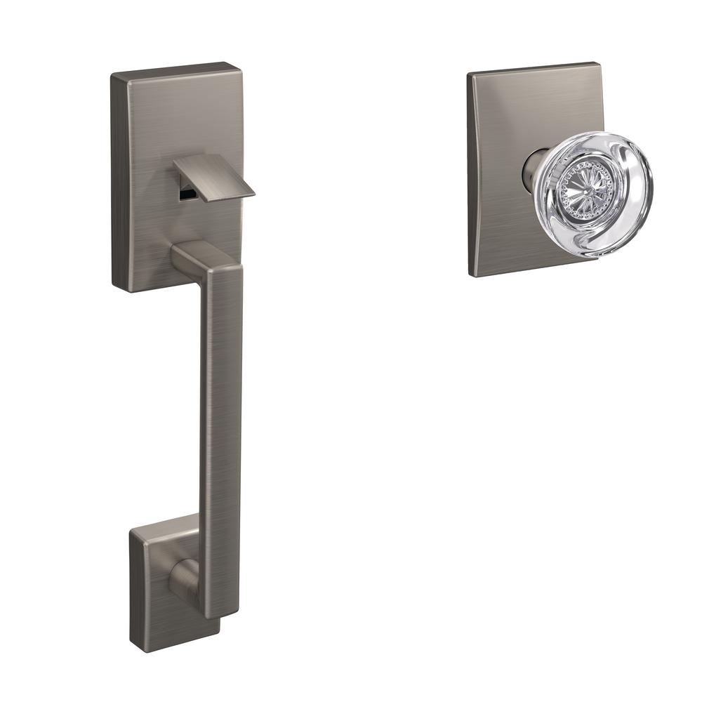 Schlage Custom Satin Nickel Century Entry Door Handleset