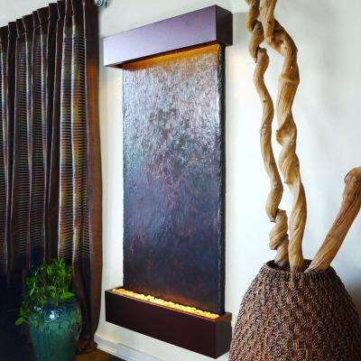 Grande Nojoqui Falls Lightweight Slate Wall Fountain in Copper-Vein Trim