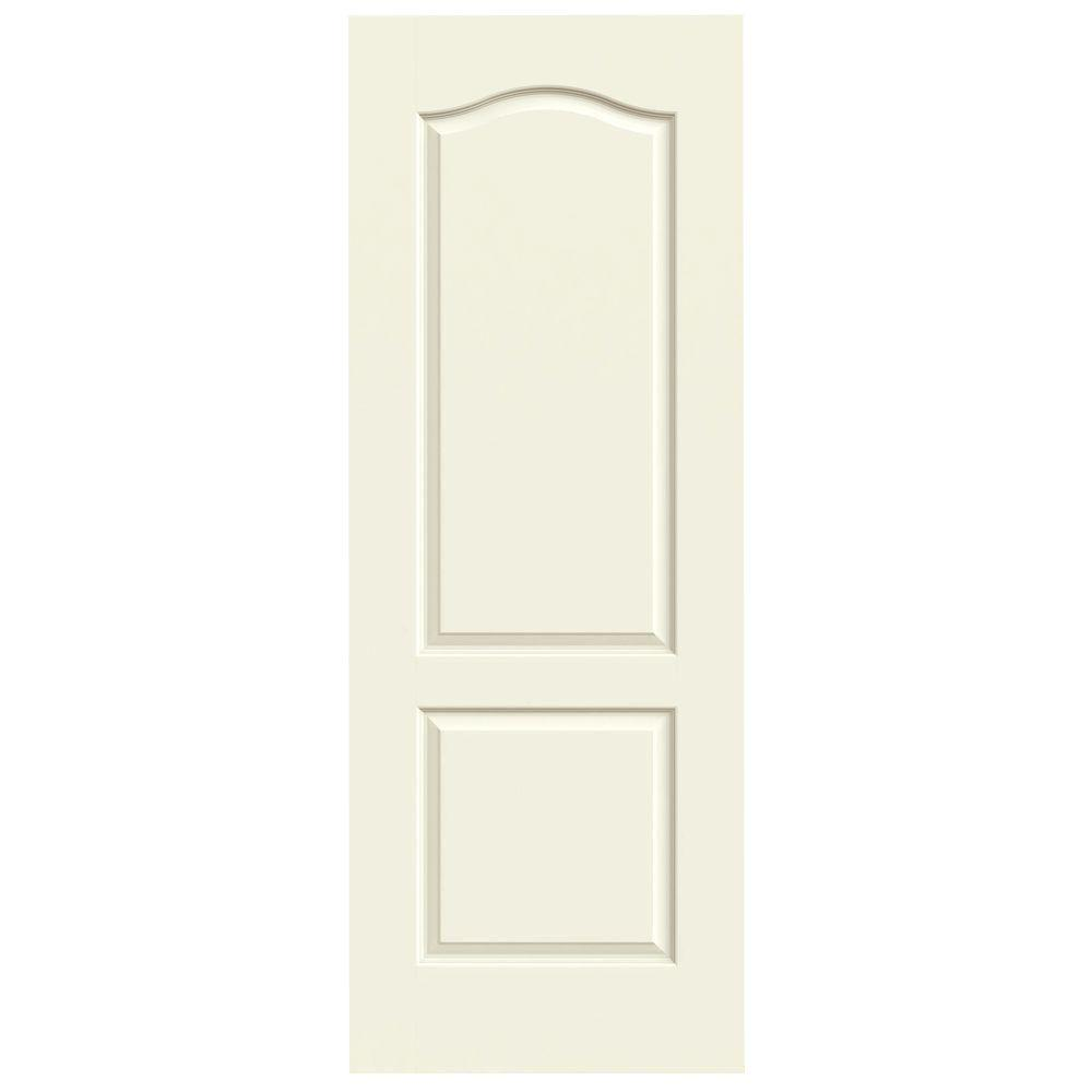Jeld wen 30 in x 80 in princeton vanilla painted smooth for Mdf solid core interior doors