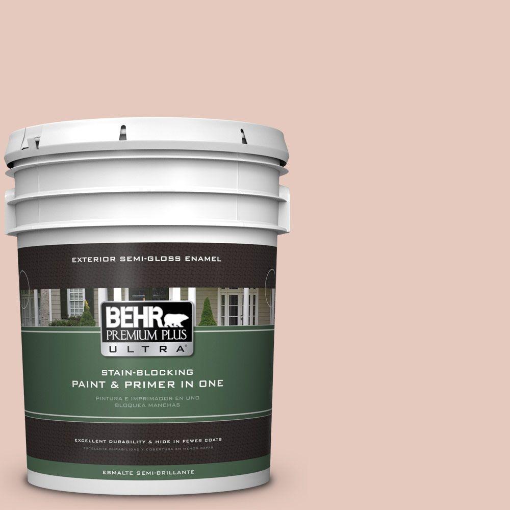 5-gal. #210E-3 Almond Willow Semi-Gloss Enamel Exterior Paint