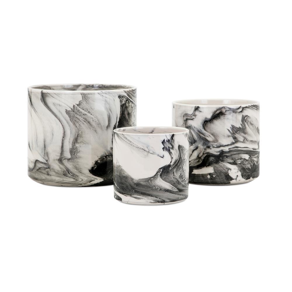 Kai Faux Marble Planters (3-Pack)