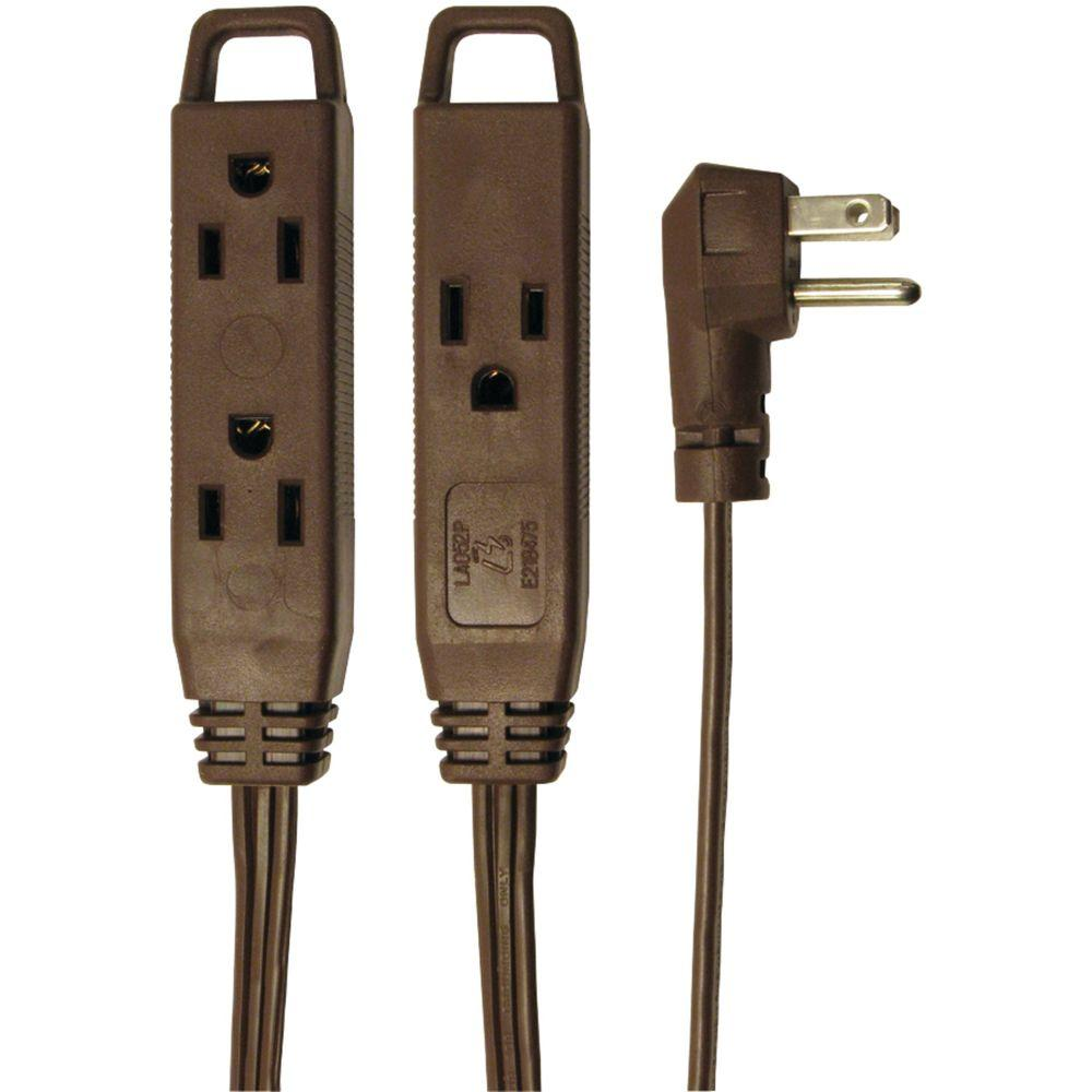 axis 8 ft 3 outlet indoor extension cord 45504 the home depot. Black Bedroom Furniture Sets. Home Design Ideas