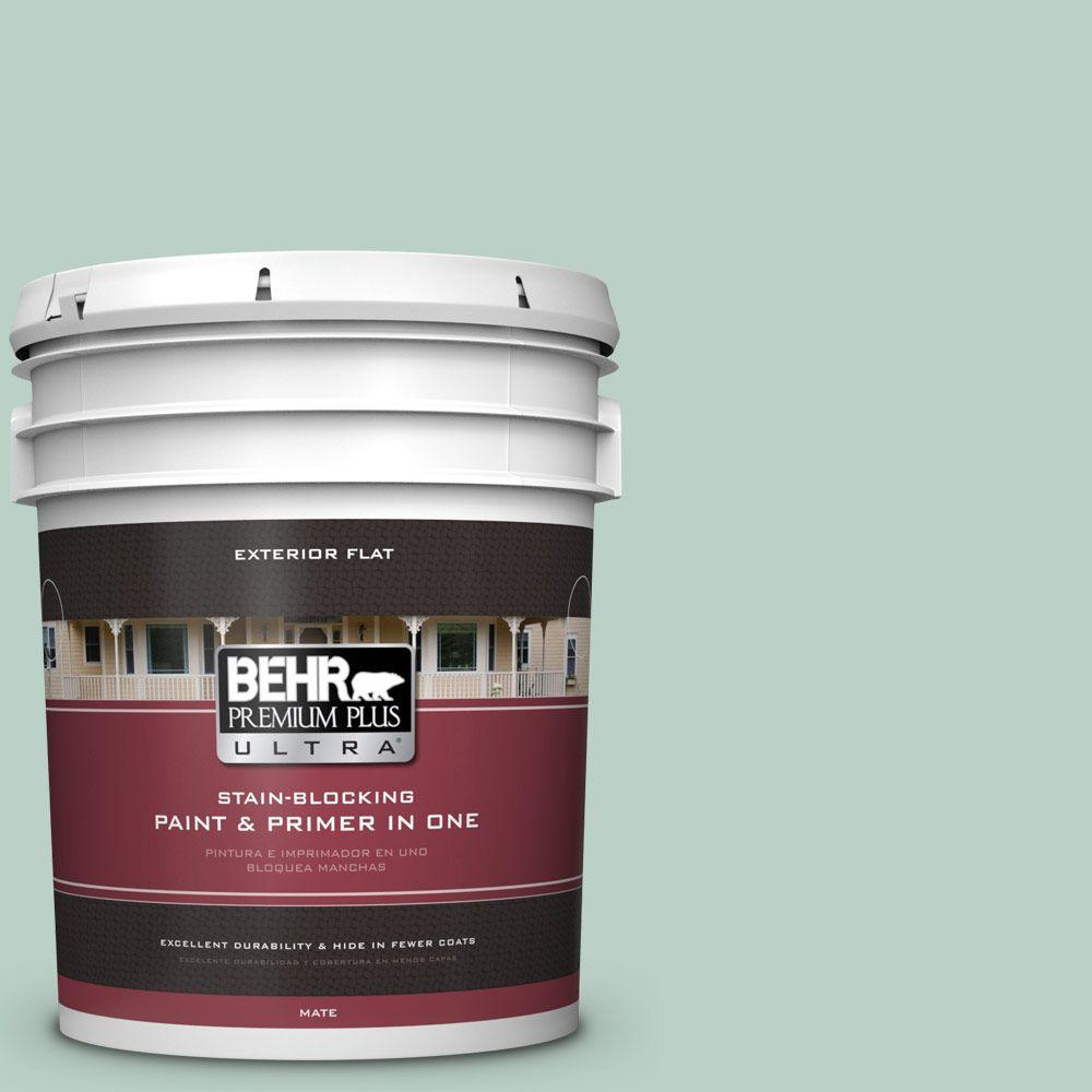 BEHR Premium Plus Ultra 5-gal. #S420-2 Moon Glass Flat Exterior Paint
