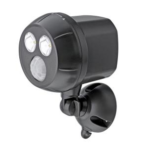 Mr Beams Outdoor Brown Weatherproof Wireless Battery Powered LED Ultra Bright Spot Light with Motion Sensor-MB390 - The Home Depot