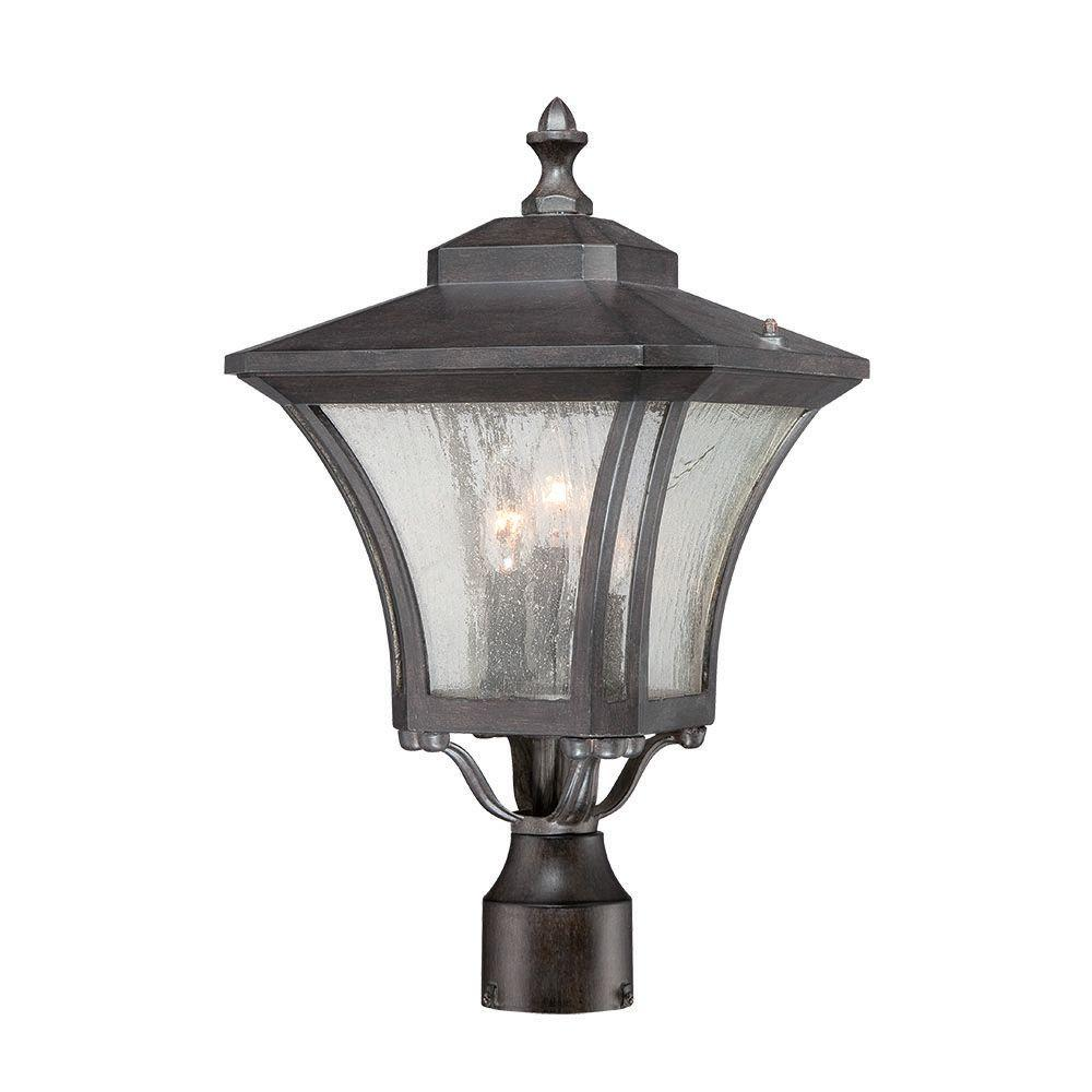 Acclaim Lighting Tuscan Collection 3-Light Outdoor Black Coral Light Post Mount Fixture