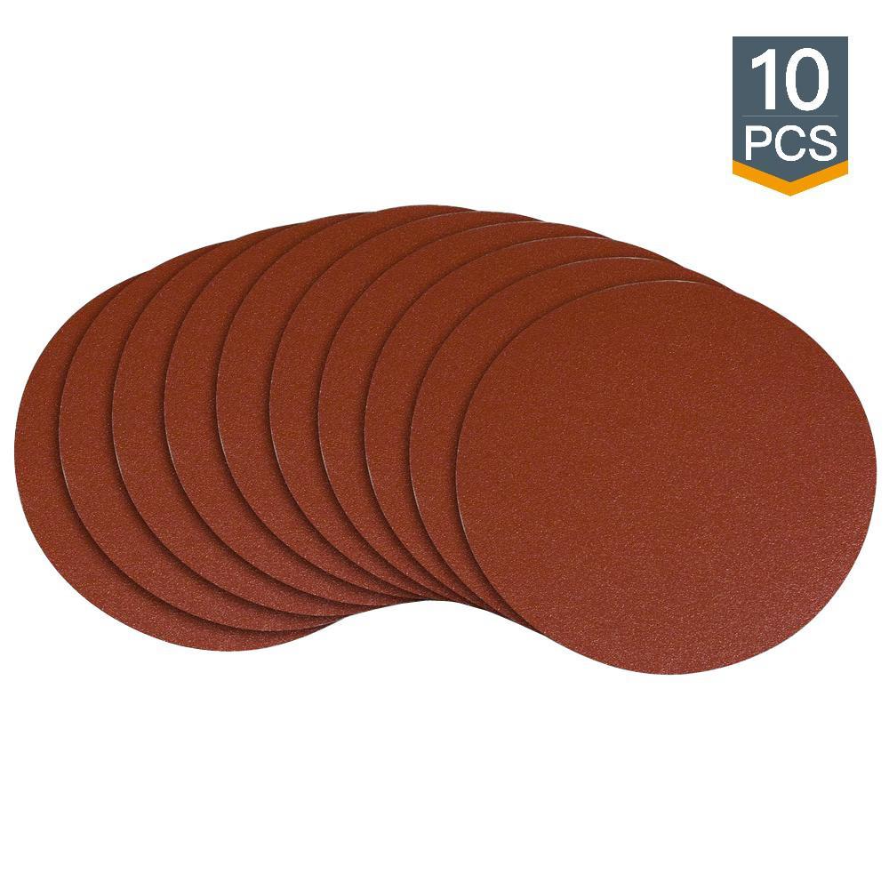 8 in. 80 Grit PSA Aluminum Oxide Sanding Disc/Self Stick (10-Pack)