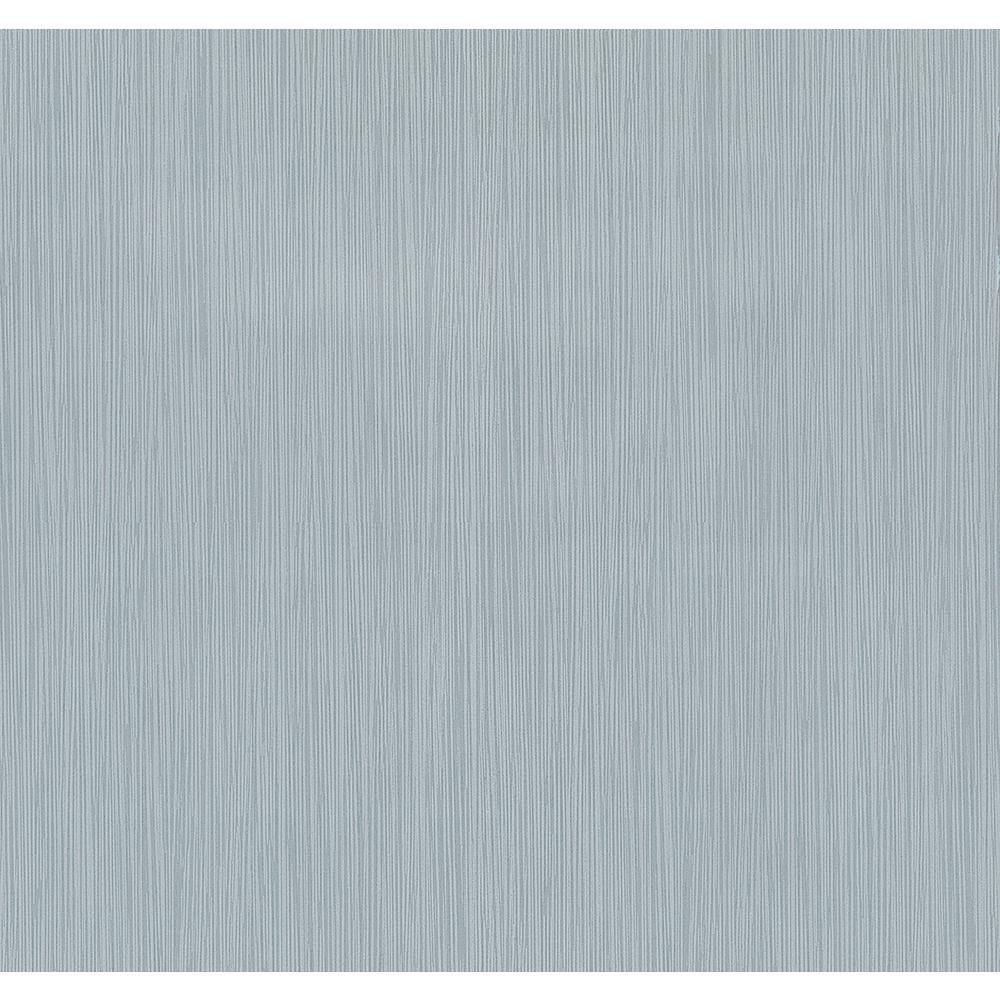 8 in. x 10 in. Ellington Light Blue Horizontal Striped Texture Wallpaper Sample
