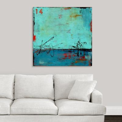 """Blue Bay Marina II"" by Erin Ashley Canvas Wall Art"