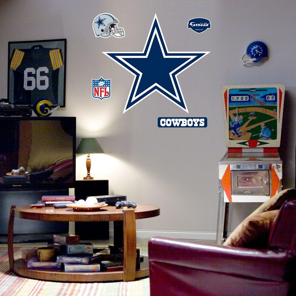 Fathead 43 in. x 40 in. Dallas Cowboys Logo Wall Decal