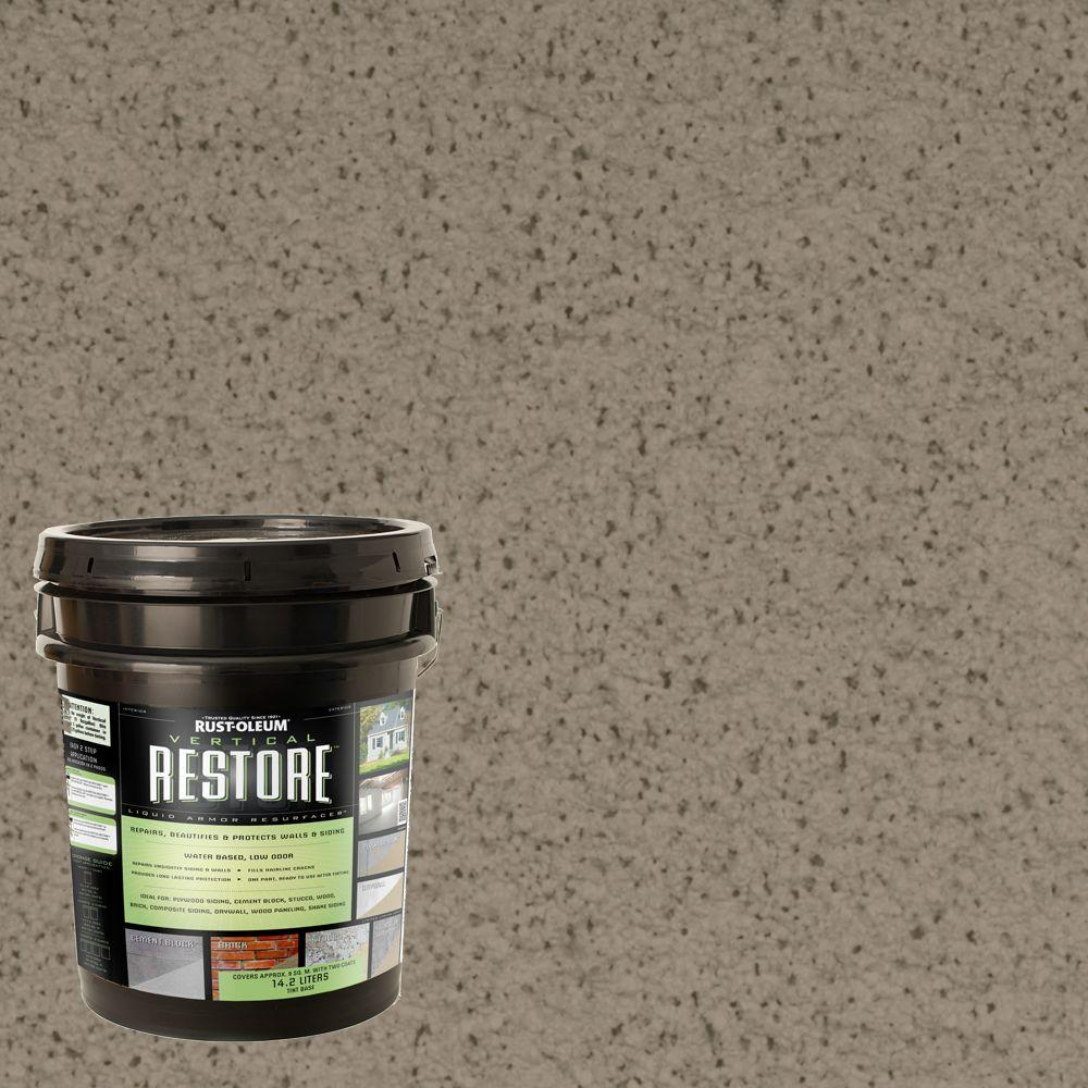 Rust-Oleum Restore 4-gal. Putty Vertical Liquid Armor Resurfacer for Walls and Siding