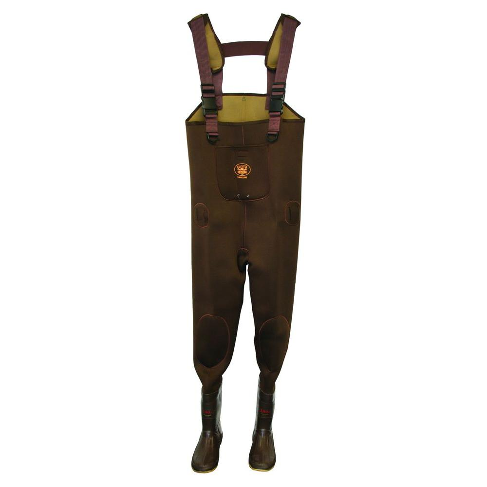 Mens Size 10 Neoprene Insulated Reinforced Knee Adjustable Suspender Cleated