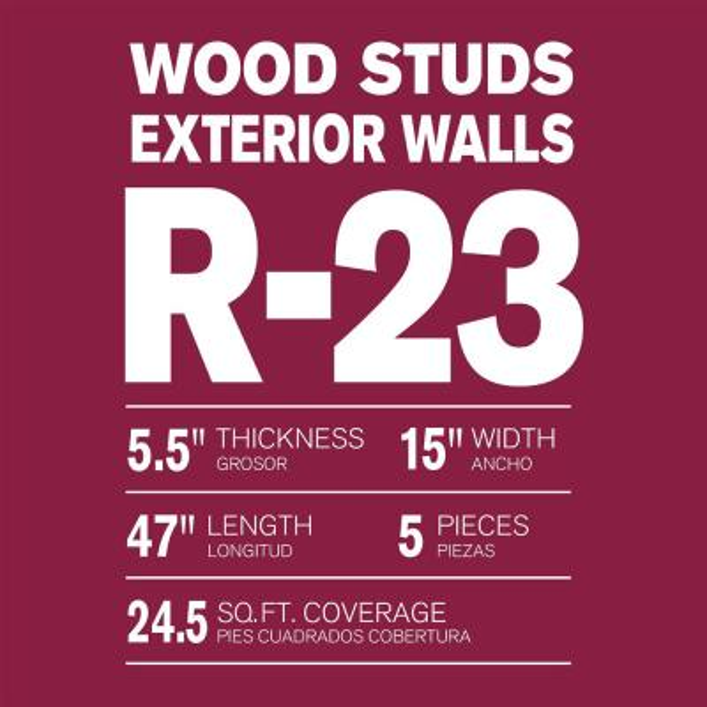 R-23 Thermafiber UltraBatt Unfaced Mineral Wool Insulation Batt 15in. x 47in. (24-Bags)