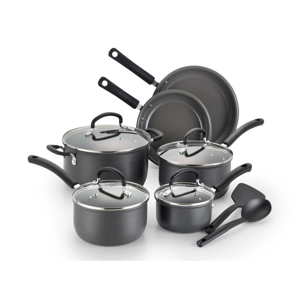 T-Fal 12-Piece Precision Ceramic Hard Anodized Aluminum Non-Stick Cookware Set by T-Fal