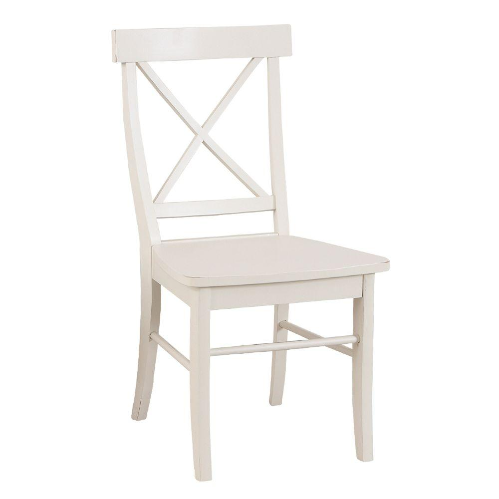Carolina Cottage Antique Ivory Essex Dining Chair-DISCONTINUED
