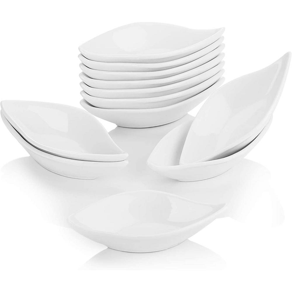 4.75-Inch Porcelain White Ramekins Set for Souffle Dishes (Set of 12)