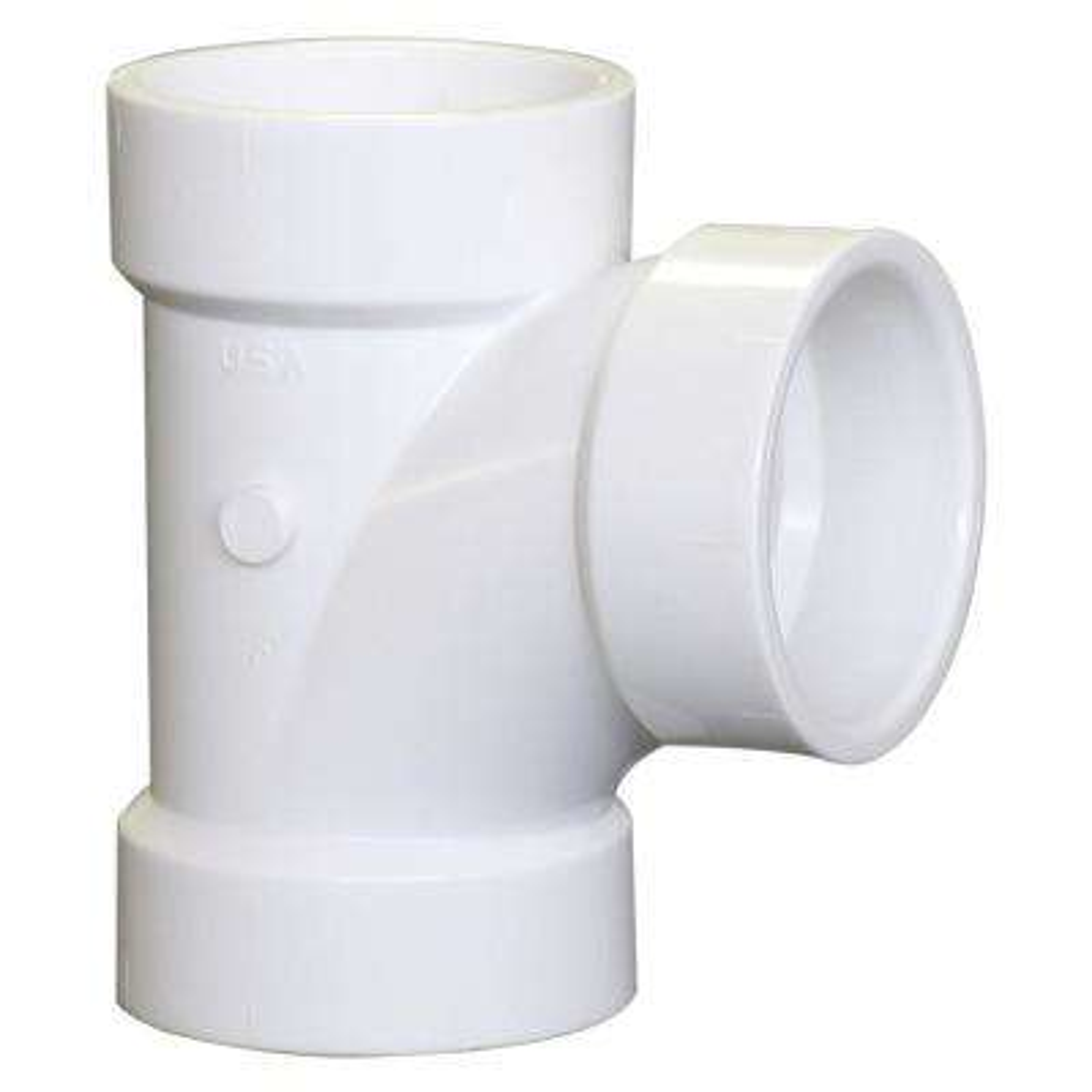 4 in. PVC DWV Hub x Hub x Hub Sanitary Tee