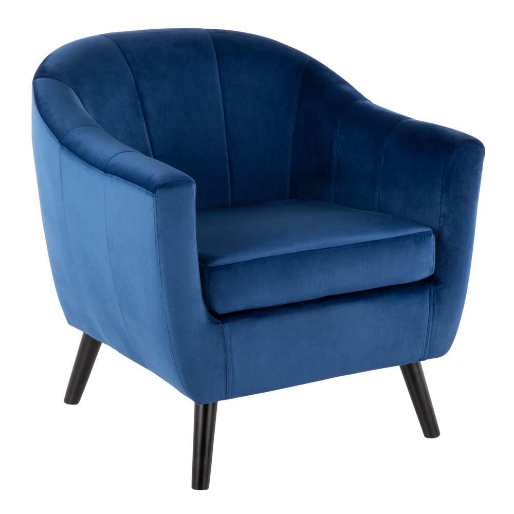Rockwell Blue Velvet Accent Chair