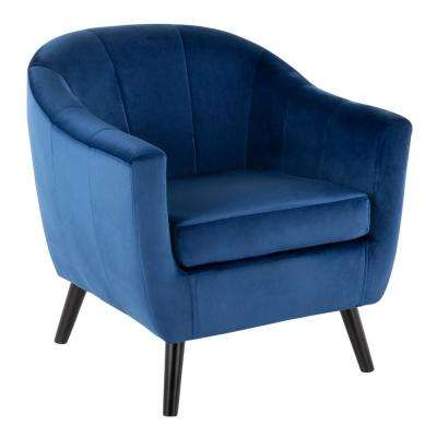 Rockwell Blue Velvet Accent Chair