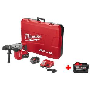 Milwaukee M18 FUEL 18-Volt Lithium-Ion Brushless 1-9/16 inch SDS-Max Rotary Hammer 9.0Ah Kit with Free M18... by Milwaukee