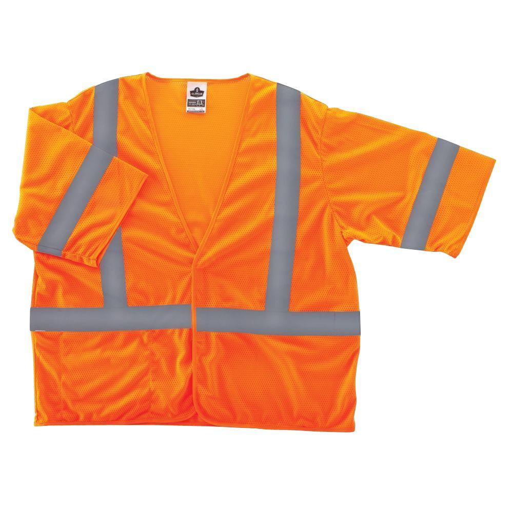 Glowear 8310HL Class 3 Economy Vest, Oranges/Peaches