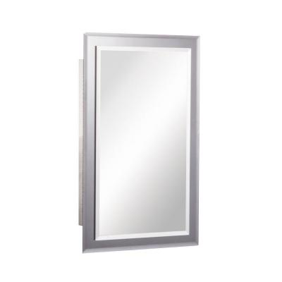 Mirror on Mirror 16 in. W x 26 in. H x 5 in. D Frameless Recessed Bathroom Medicine Cabinet with Beveled Edge Mirror