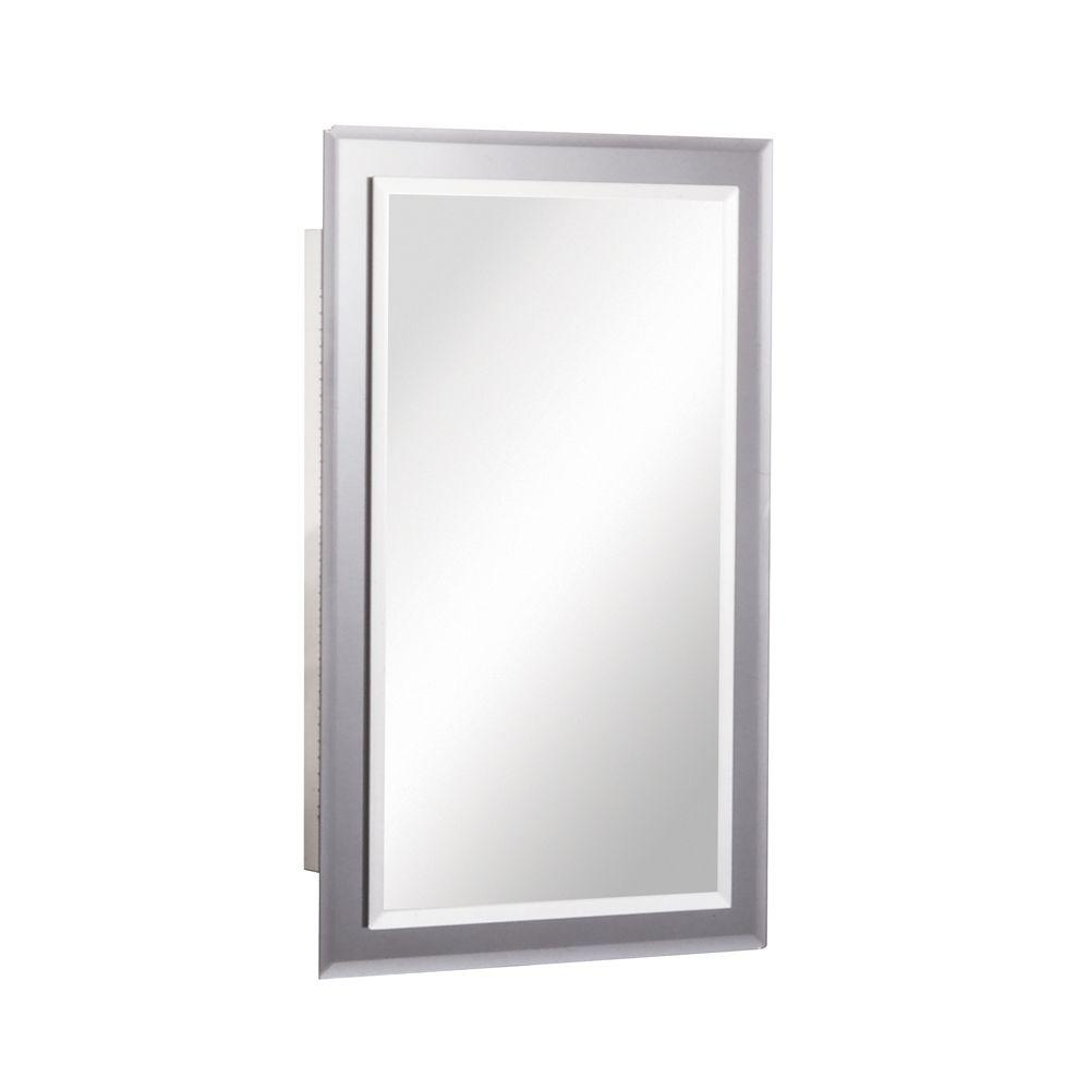 Mirror on Mirror 16 in. W x 26 in. H x 5 in. D Frameless Recessed ...
