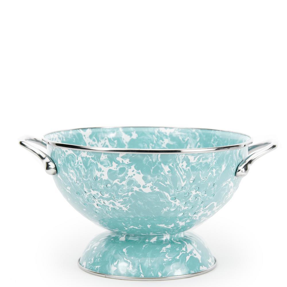 Sea Glass 1.5 qt. Enamelware Colander