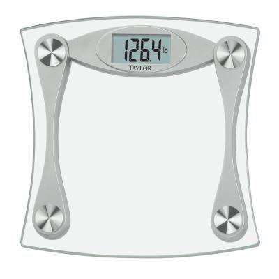 LCD Digital Bath Scale in Glass and Grey