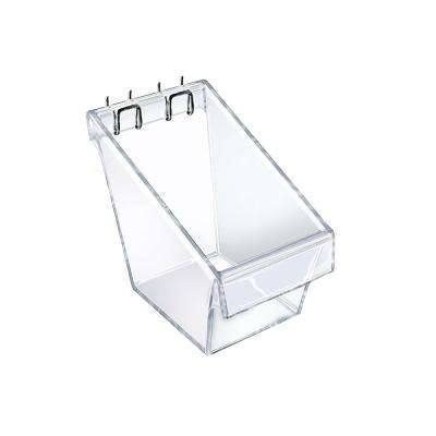 Mini 4 in. W x 4.25 in. D x 4.5 in. H Crystal Styrene Display Bucket (4-Pack)