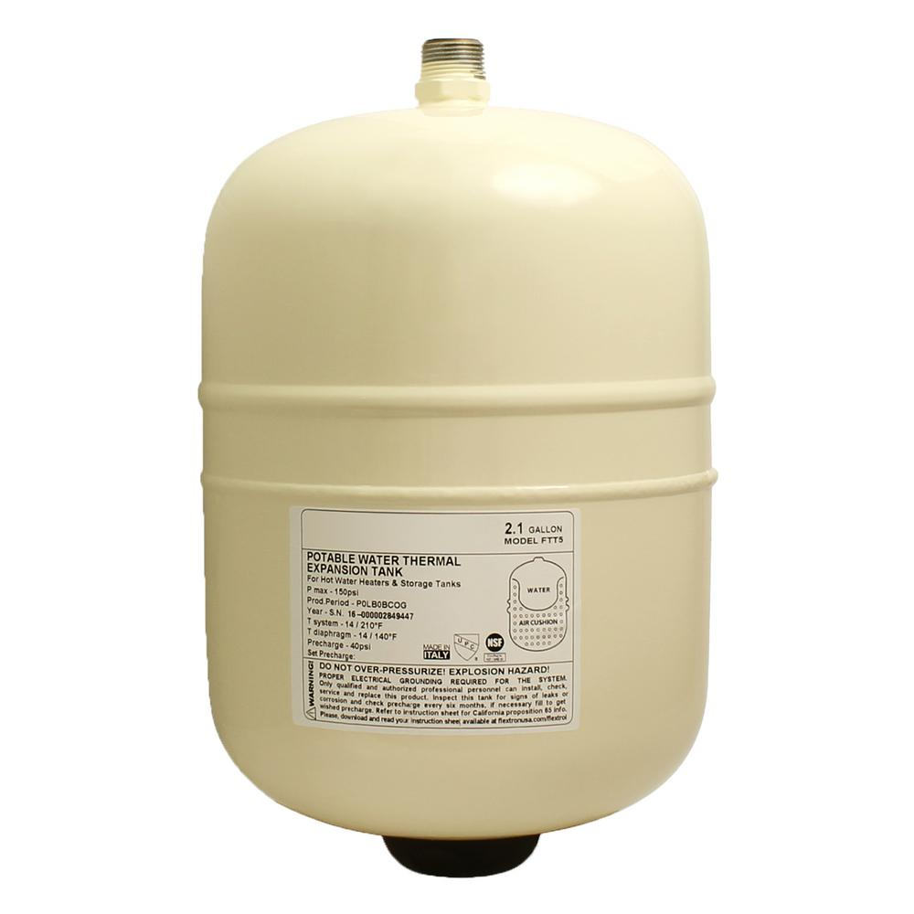 2.1 Gal. Portable Hot Water Heater Thermal Expansion Pressure Tank