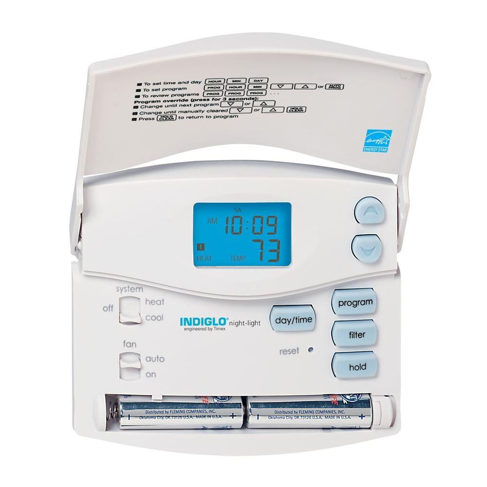 hunter 5 2 day digital room programmable thermostat 44157 the home rh homedepot com Hunter Model 44155C Wiring hunter thermostat model 44155c wiring diagram