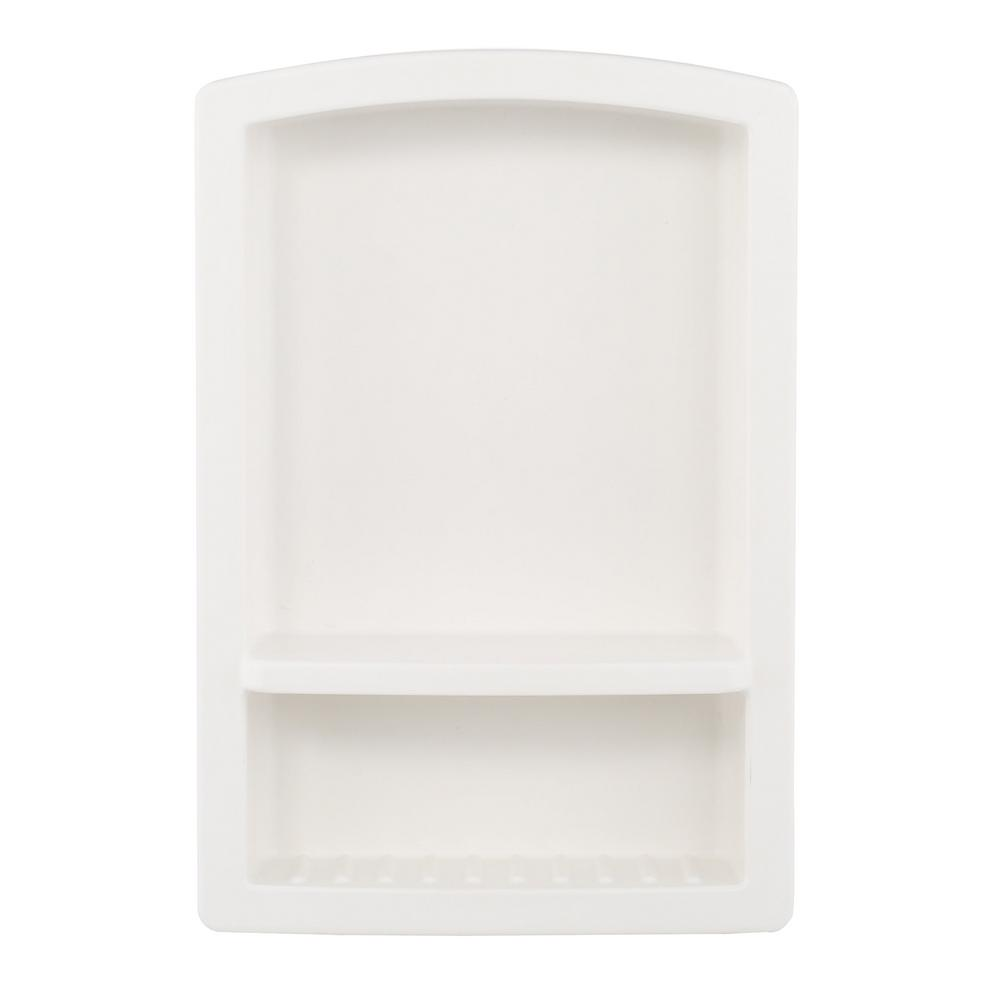 Swan Recessed Solid Surface Soap Dish in White