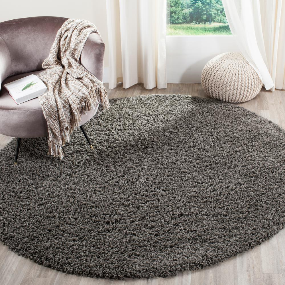 Safavieh Modera Dark Gray 7 Ft X Round Area Rug